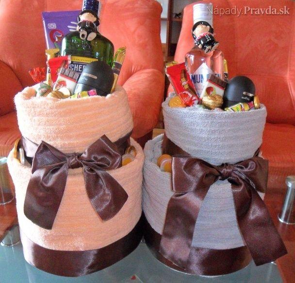 Uteráky a osúšky froté upravené ako darček