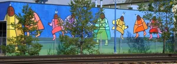One of the 5 murals created in McCauley to add vibrancy to the neighbourhood in the McCauley Revitalization project