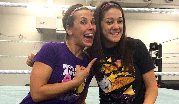 One of my all time favorites Mickie James with one of my NXT favorites Bayley. Wish Mickie could come back to help push the Divas Revolution both on the main roster and on the NXT roster