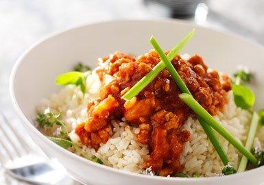 Indisk curry med kycklingfärs