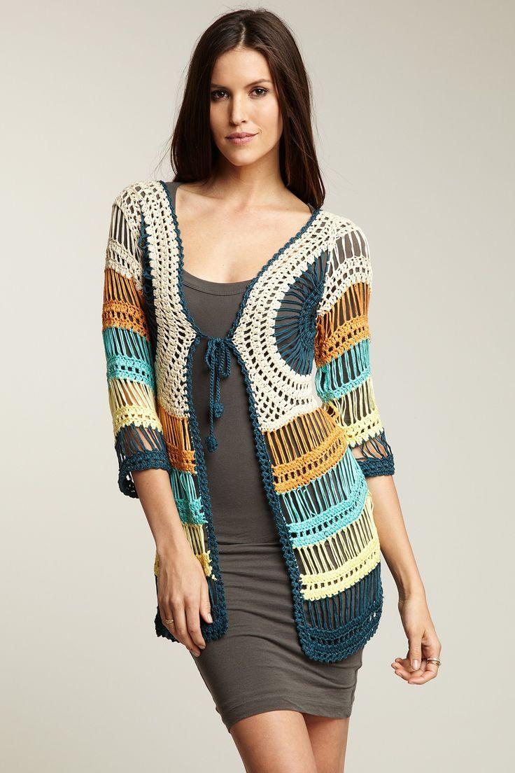 Mulitcolor Crochet Cardigan -Nobilita