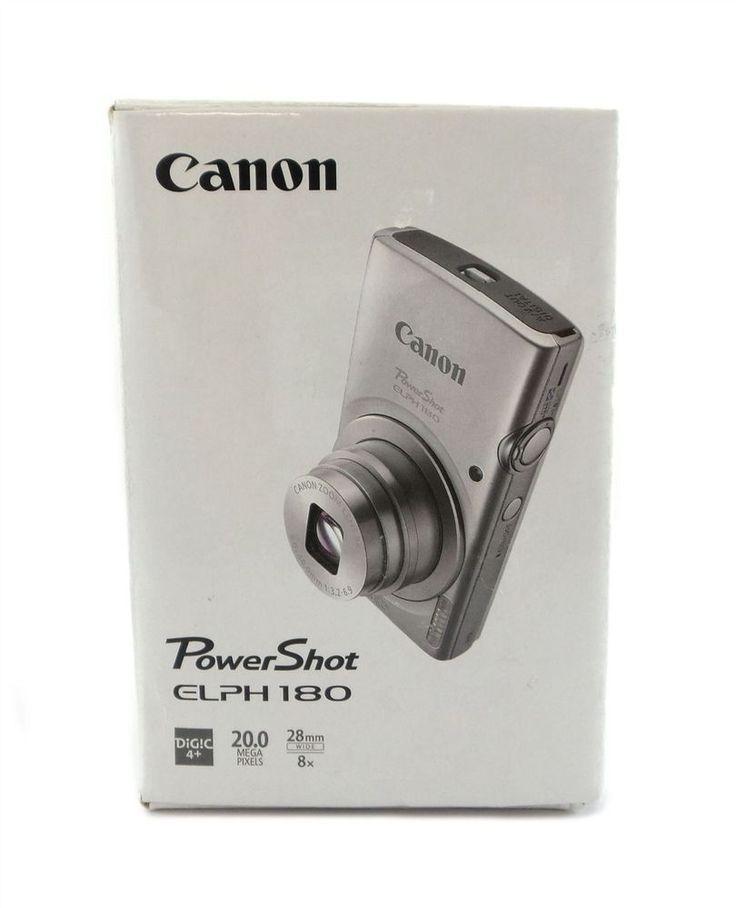 Canon PowerShot ELPH 180 Digital Camera 20.0MP 8x Optical Zoom Silver | Cameras & Photo, Digital Cameras | eBay!