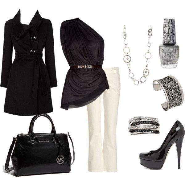 Outfit: Classy, Fashion, Super Chic, Black And White, White Pants, Black White, Closet, Date Night Outfits, My Style