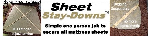 Holdup Sheet straps called Stay-Downs sell for only 19.95 in in two set sizes.