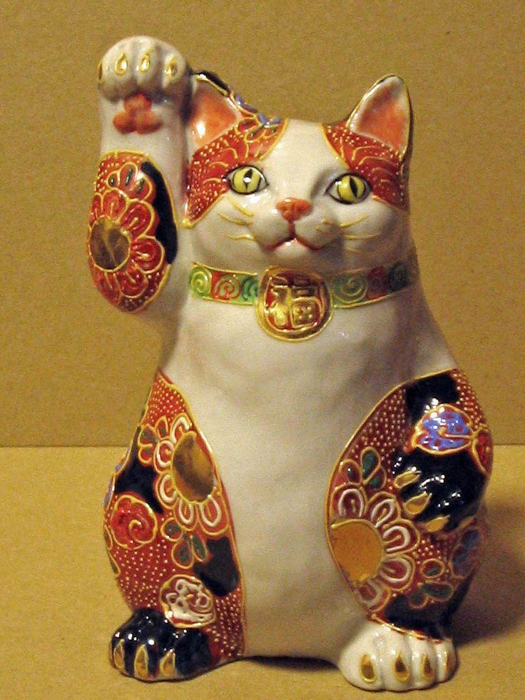 招き猫作家 春原有希 オリジナル招き猫 太(ふと)