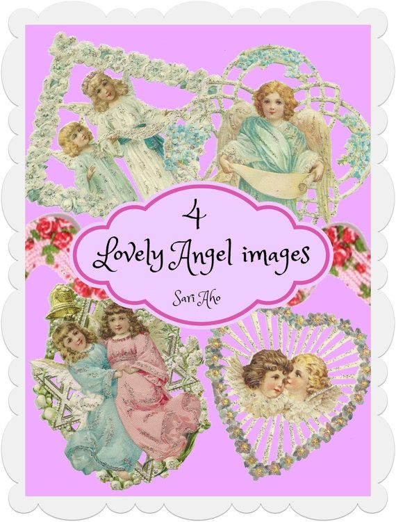 Angel images printables by ZaraTreasures on Etsy