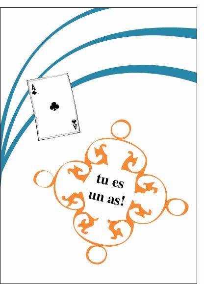 Carte Tu es un as! pour envoyer par La Poste, sur Merci-Facteur !