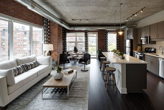 11 Chicago Dream Apartments To Rent Right Now #refinery29  http://www.refinery29.com/available-chicago-apartment-rentals#slide-21  In the past, if you wanted to rent a loft-style apartment, you'd find it only in the West Loop. Well, not anymore — AMLI Lofts in the South Loop boasts exposed brick, 10-foot ceilings, and plentiful windows in each unit, along with countless building amenities, including a 24-hour lounge co...