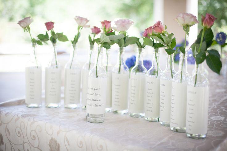 Wedding table name charts