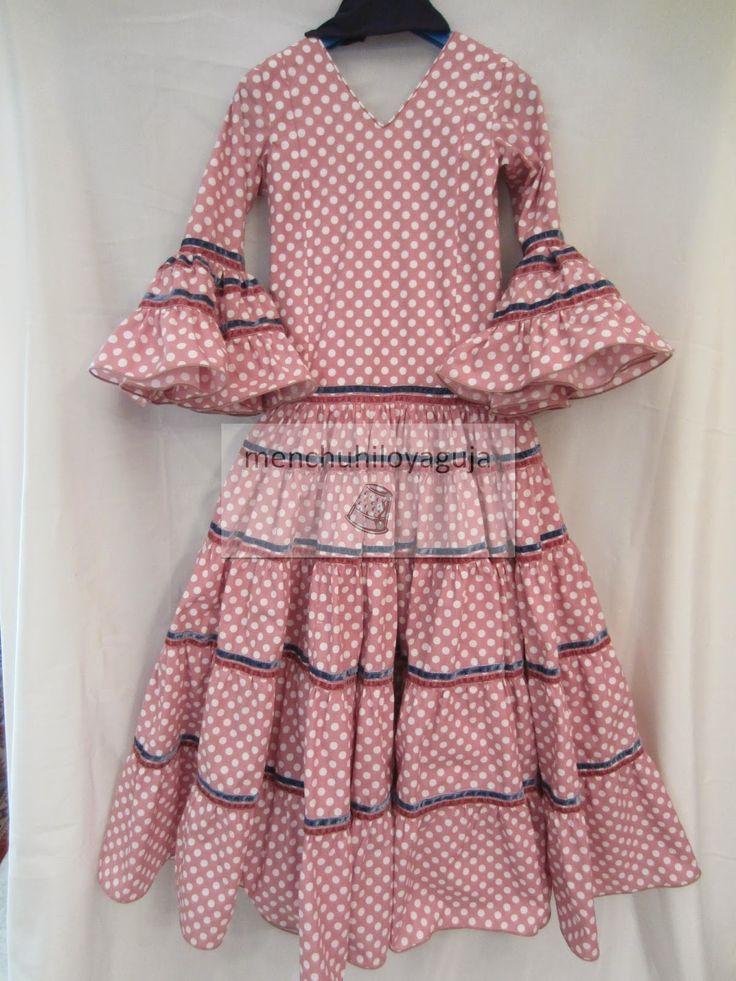 Tutorial para hacer un traje de flamenca para niñas.