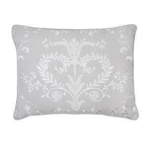 Josette Dove Grey Patterned Cotton Cushion