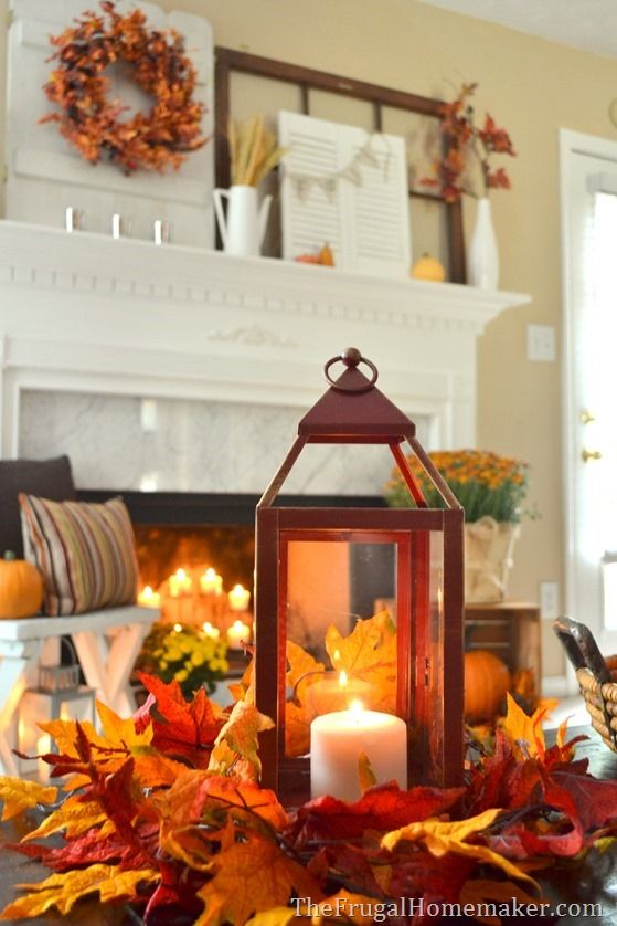 129 best Fall Mantels images on Pinterest | Fall, Home and Fall ...
