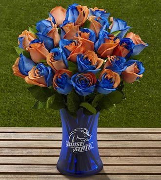 These could be my knicks!   The FTD® Boise State University™ Broncos™ Rose Bouquet - 24 Stems - VASE INCLUDED