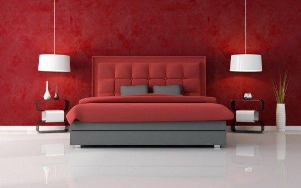 desain kamar tidur warna merah  credit : http://goo.gl/i3rbhy