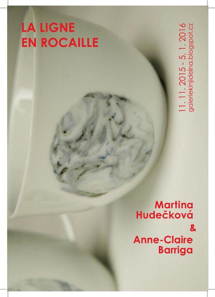 Katalog for exhibition La ligne en rocaille for Galerie KIN jídelna in Prague.