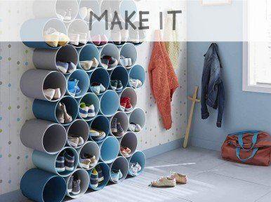 DIY : Créer un porte-chaussures en tubes PVC