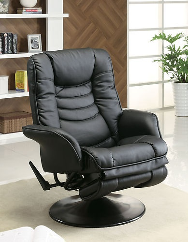Coaster Home Furnishings 600229 Recliners Casual Leatherette Swivel Recliner Black Seat yourself in this comfortable swivel recliner chair. & The 25+ best Best recliner chair ideas on Pinterest | Parts of a ... islam-shia.org
