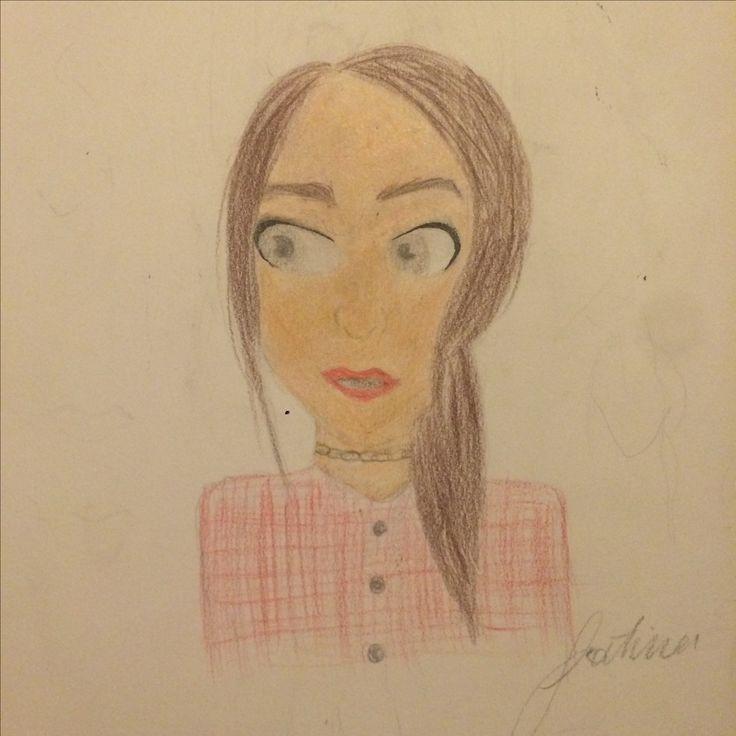 Done with Crayola pencil crayons :)