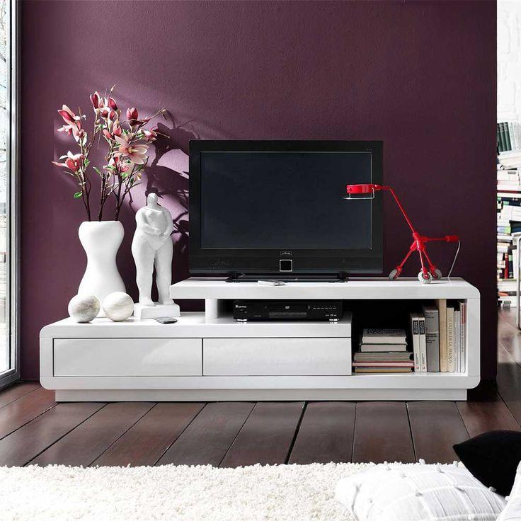 Marvelous TV Lowboard in Wei Hochglanz cm breit Jetzt bestellen unter https moebel ladendirekt de wohnzimmer tv hifi moebel tv lowboards uid udadd c