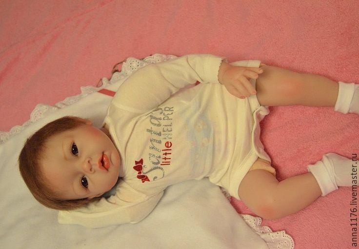 Купить Кукла девочка реборн малышка - кремовый, кукла в подарок, Малышка реборн, кукла реборн