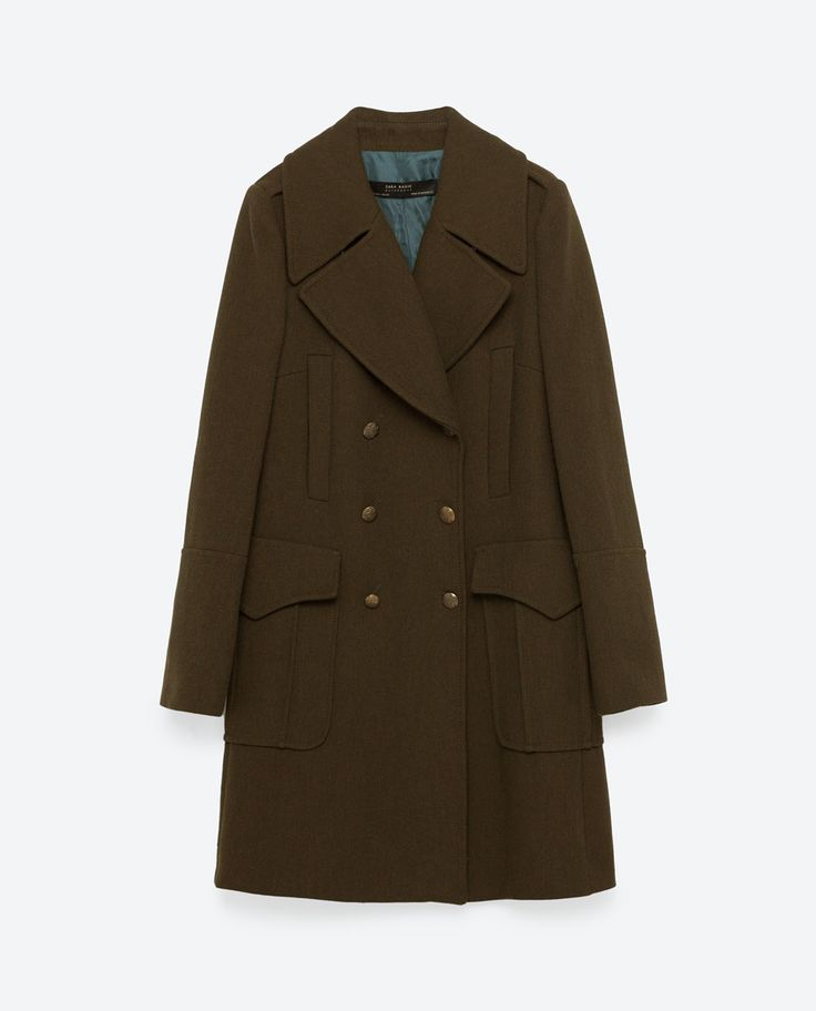 Image 8 of MILITARY STYLE COAT from Zara