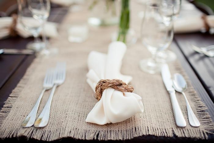Table settings: burlap looks really nice too. @Jordan Rawlings Waddington