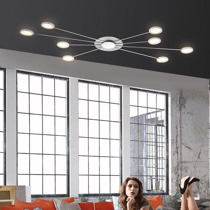 Adela LED Deckenleuchte Dimmbar / 8 x 4,60W / 3000K / Chrom 43843