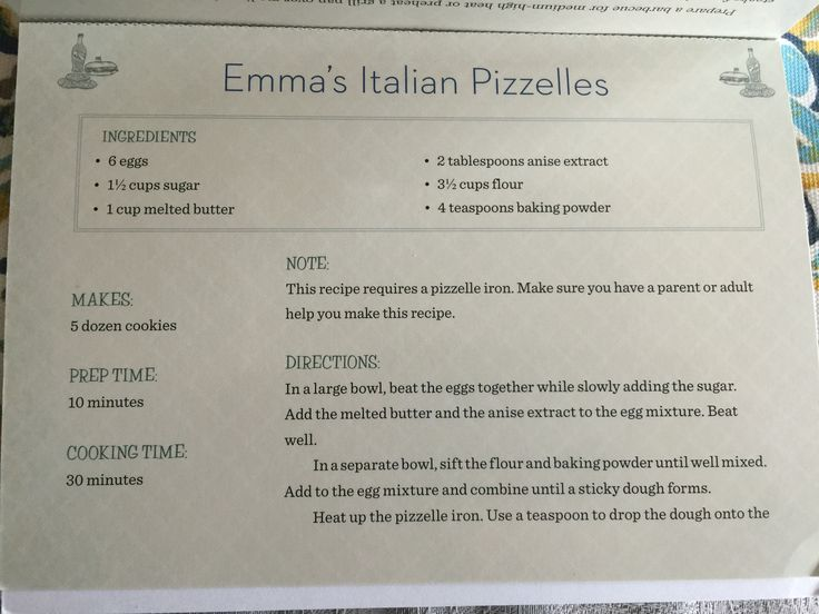 Giada put this Pizzelle recipe in the book she wrote for children.