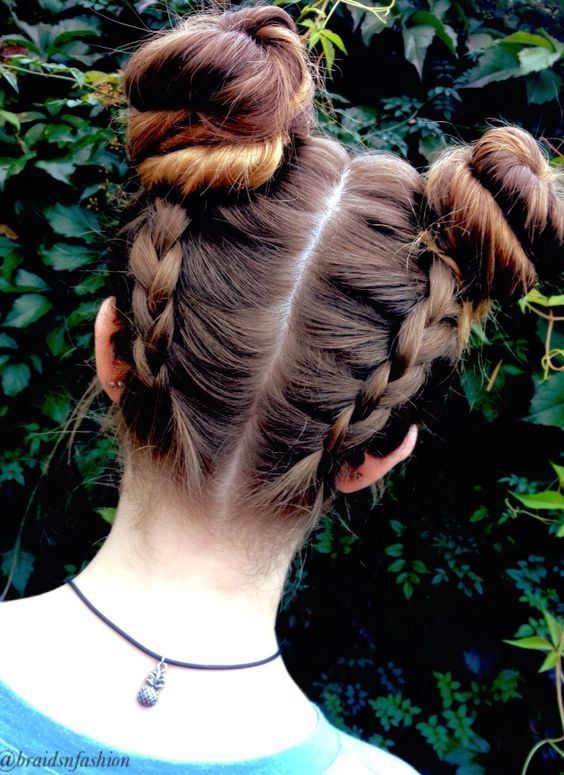 Best Double Buns Updos I Want To Try Hair Art And Kos