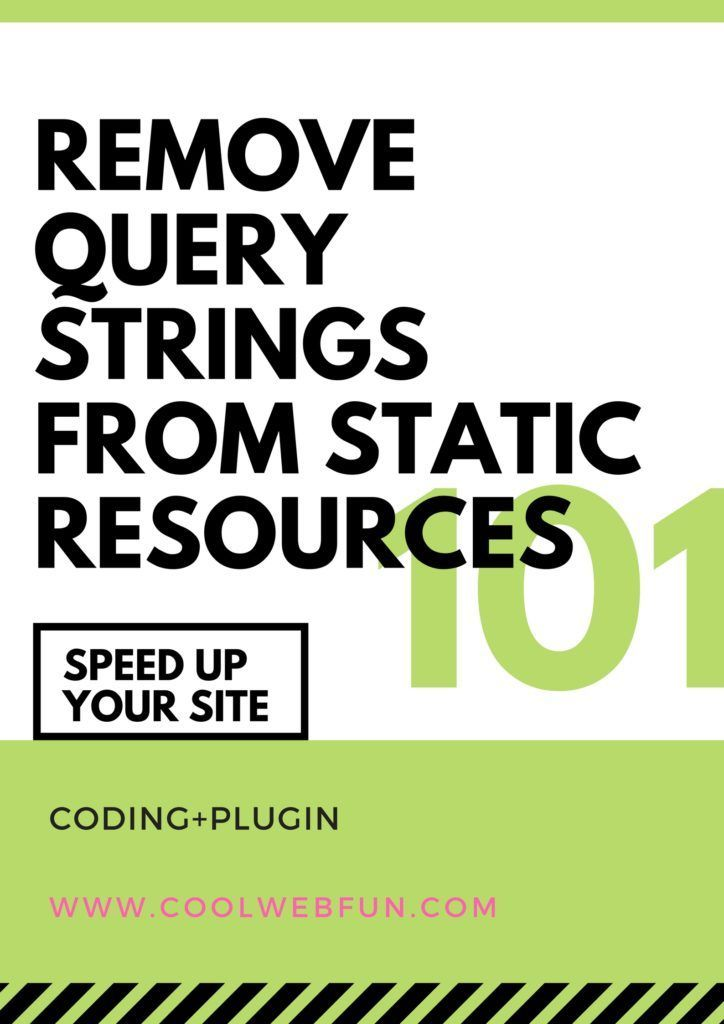 Do you know you can easily remove query strings from static resources by simply adding a code . Copy the code for your wordpress site and remove query strings for better wordpress Optimization. Check out how at http://www.coolwebfun.com/remove-query-strings-from-static-resources/