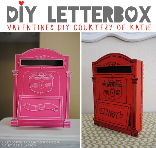 25 best Letter Boxes ideas – Cereal Box Valentine Card Holder