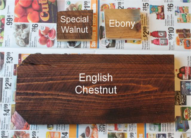 Leaning Towards English Chestnut For Desk Stain Rich