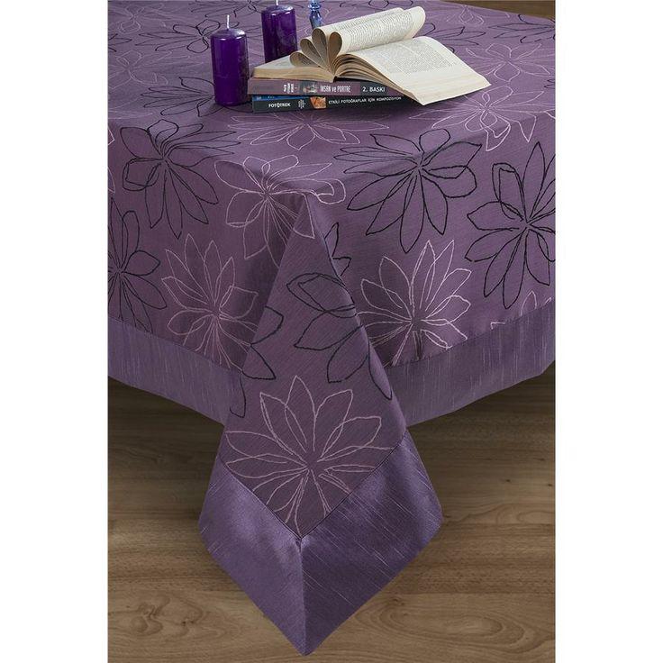 Purple Masa Örtüsü : Masa Örtüleri : : Verdi Home Perde ve Ev Tekstili Ürünleri