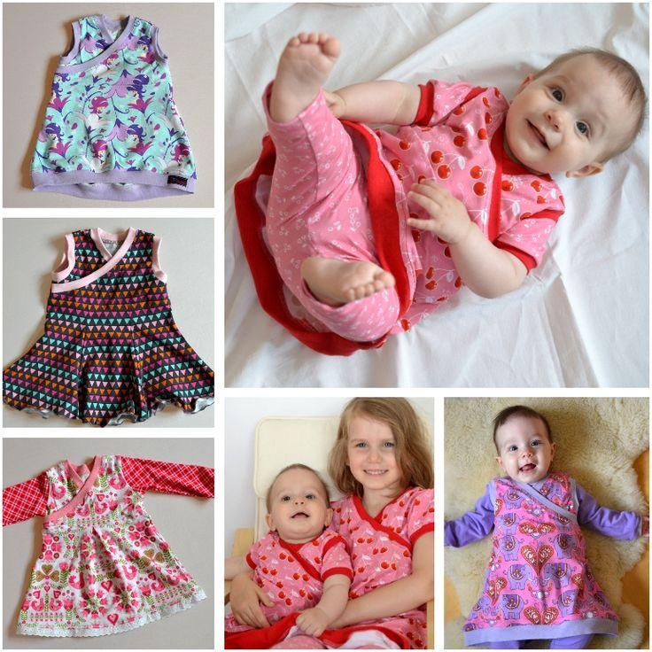 Trotziges Kleid; Größe 50 – 134; freies Schnittmuster; Mädchen; Kostenloses Buch   – Baby- und Kindersachen