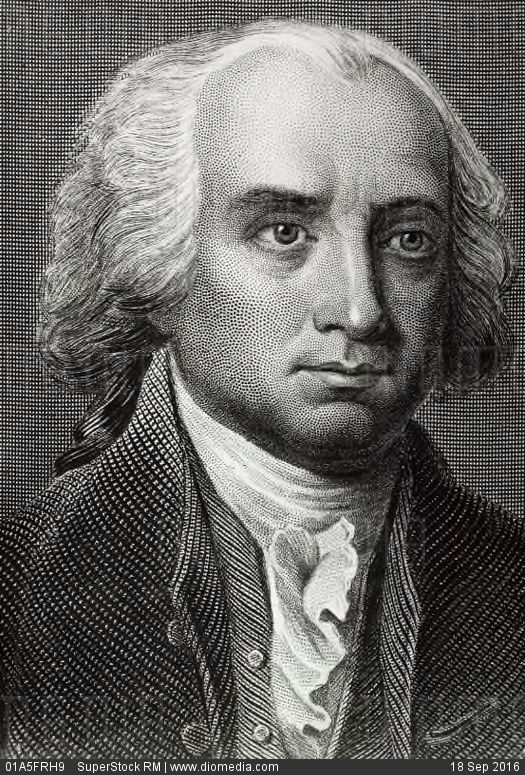James Madison  1751-1836  4th President of the United States - stock photo