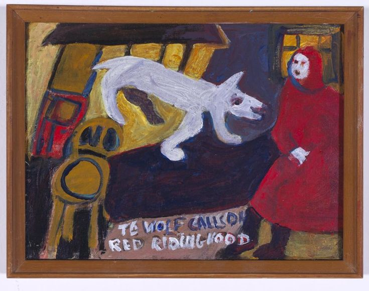The Wolf Calls on Red Riding Hood   Milani Gallery Madonna Staunton