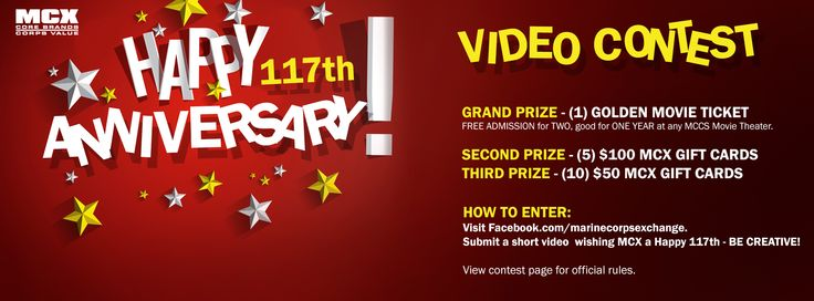 VIDEO CONTEST! Submit a short video wishing MCX a Happy 117th Birthday, and you could be a winner!!! Come on Quantico, get creative! Let's have the winner come from our base!