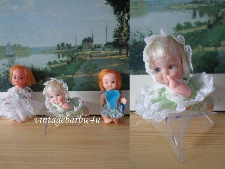 Uneeda Baby Pocket Size Doll Lot Pee Wee Fancy Pants 1960s Hong Kong Vintage #Uneeda #DollswithClothingAccessories