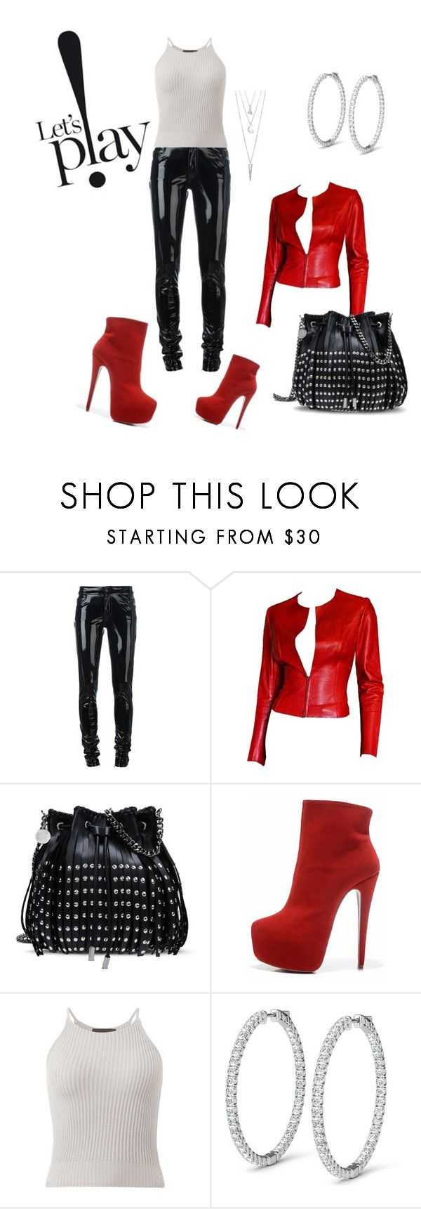 """""""Sexy and Ready"""" by dollie-stoudemire-mccall ❤ liked on Polyvore featuring Anthony Vaccarello, Gucci, STELLA McCARTNEY and BERRICLE"""