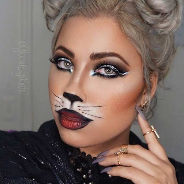23 pretty and easy halloween makeup looks - Where Can I Get Halloween Makeup Done