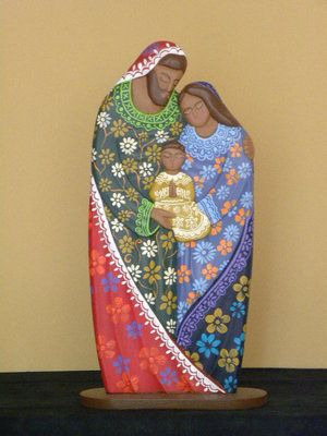 Holy Family, wooden hand made in Nicaragua