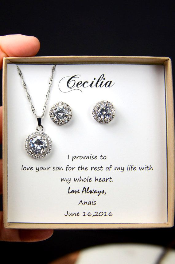 Mother of the Groom &bride,Solitaire Necklace, Cubic Zirconia Necklace,CZ Diamond BRACELET ,Mother In Law Gift,Small Circle Pendant BRACELET