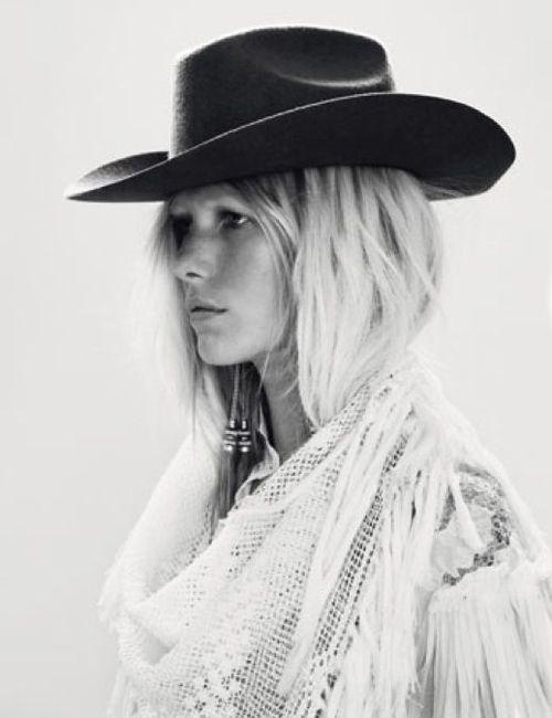 cowgirl | black & white | wild west | arizona | fashion editorial | profile | cowboy hat | www.republicofyou.com.au