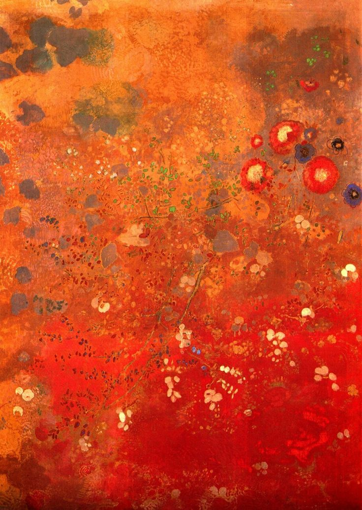 Odilon Redon - Red panel (1905)