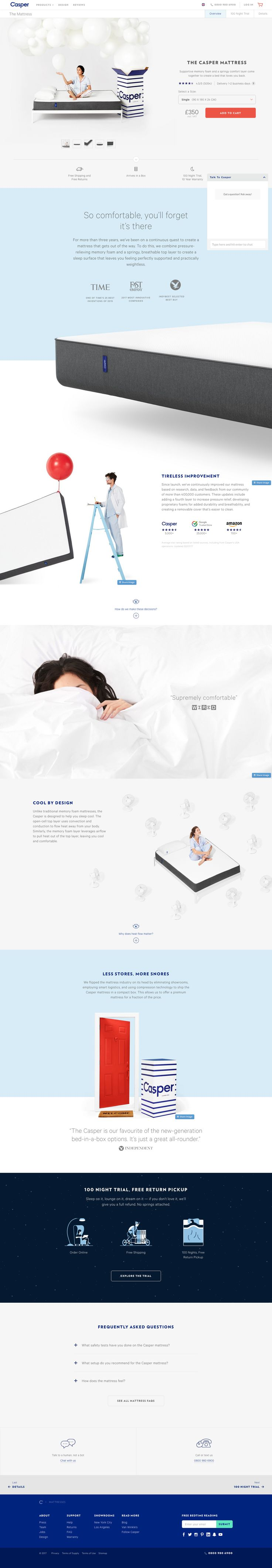 Casper Mattresses - Product Page