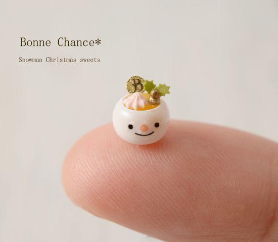 クリスマススイーツ☆雪だるま - Bonne Chance*