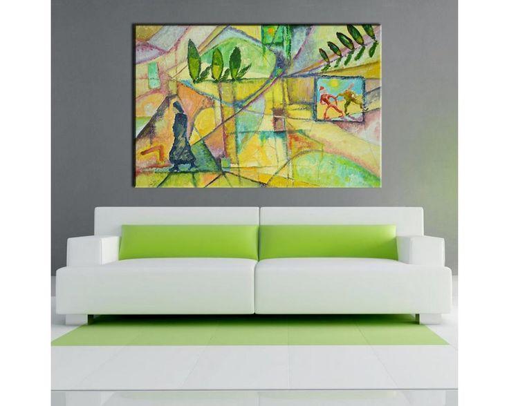 Greek landscape , Πίνακας σε τελάρο100% βαμβακερός καμβάς. Δίνει βάθος και ποιότητα στο θέμαΣε τελάρο: Box 2,5 cm