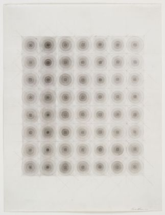 Eva Hesse  (American, born Germany. 1936–1970)   No title 1966 Watercolor and pencil on paper 11 3/4 x 9 1/8""