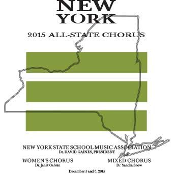 """New York 2015 All-State (NYSSMA): All-State Mixed Chorus features """"I Carry Your Heart"""" & All-State Women's Chorus features """"Cedit Hyems"""" by Abbie Betinis"""