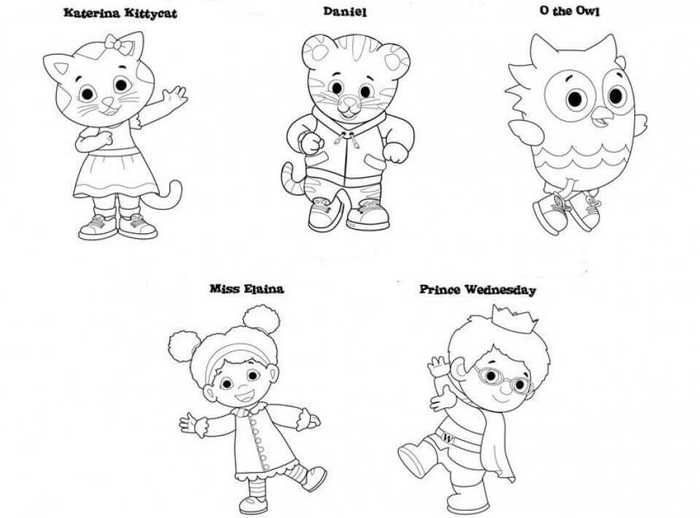 Daniel Tiger S Neighborhood Coloring Pages Birthday Coloring Pages Daniel Tiger Daniel Tiger Birthday